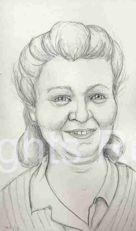 happy woman drawing