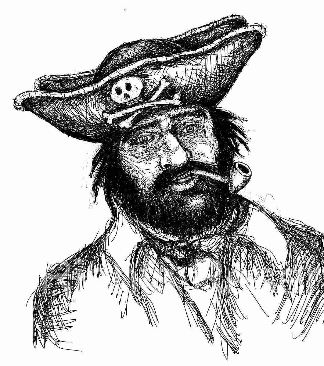 Pirate with pipe